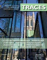 Aperçu - TRACES - Printemps 2019  Volume 57-2