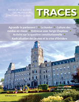 Aperçu - TRACES - Printemps 2020 - Volume 58-2